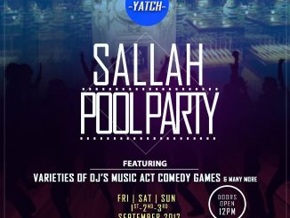 Sallah Pool Party @ The Yatch Lounge, inside Kenfeli Palmbeach Hotel, Gwarri avenue, Barnawa, Kaduna. @Theyatchlounge call 08037202292