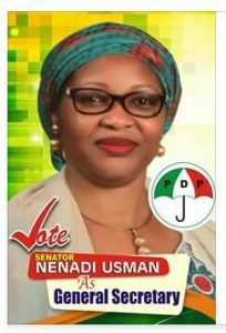 Vote Sen. Nenadi Usman for PDP National Secretary #SenNenadiUsman4PDPNS