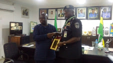 CP Mr. Garba Umar receiving the Dedicated Servant of Nigeria award (DSN) from the Pan-African Leadership Transparency Centre